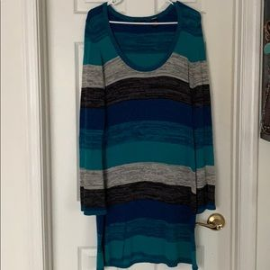 MODA INTERNATIONAL striped sweater dress, LARGE